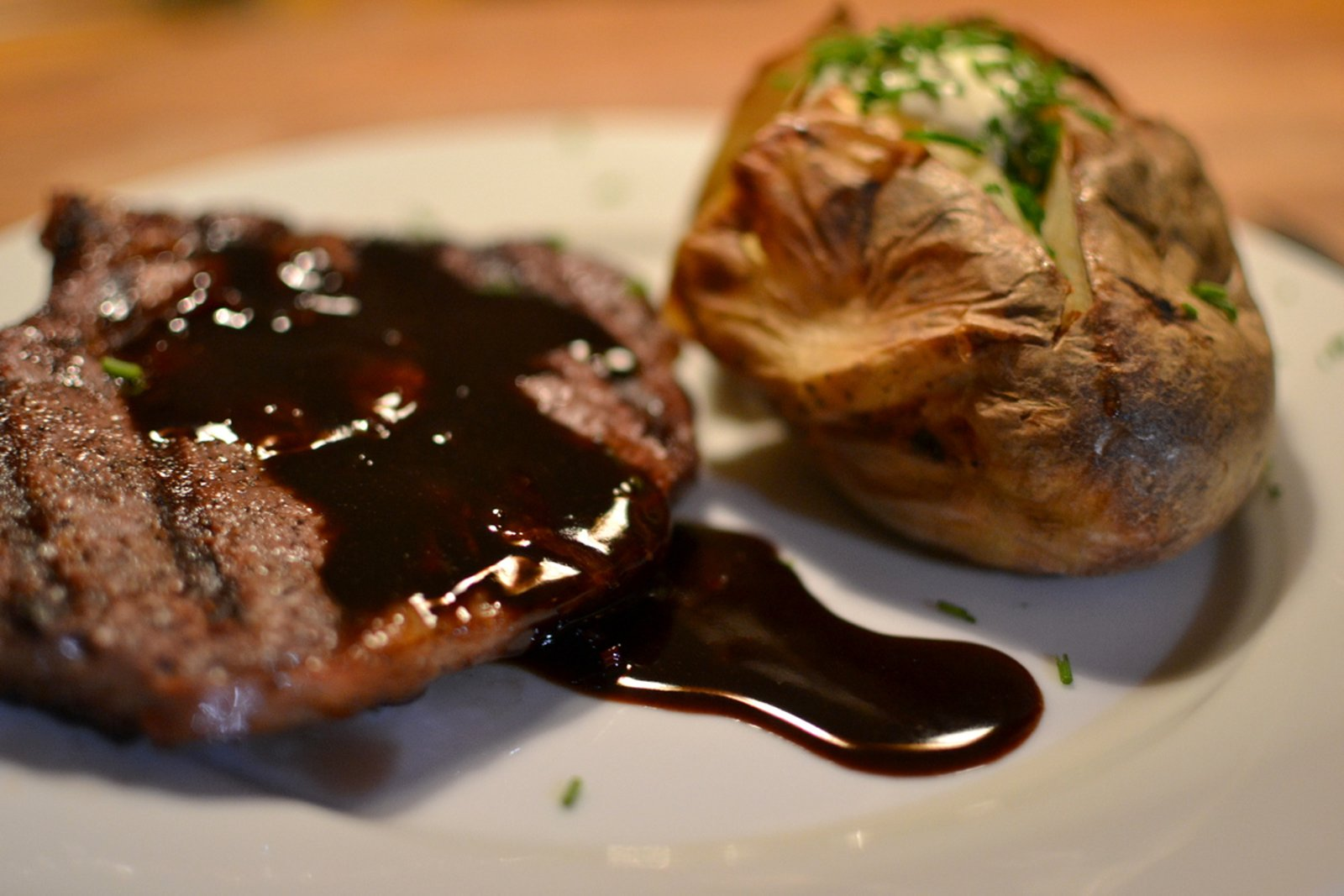 Beurre noir The Doctor in the Kitchen Wintergrilled Ribeye Steak with Balsamic